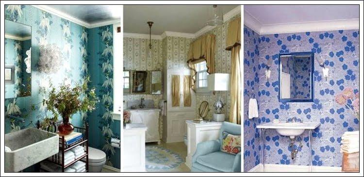 Banyo Duvar Kağıt Desenleri Ve Renkleri 30