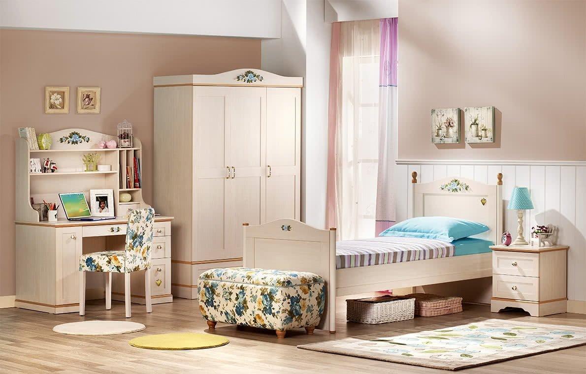 Çilek Mobilya Flora Genç Odası
