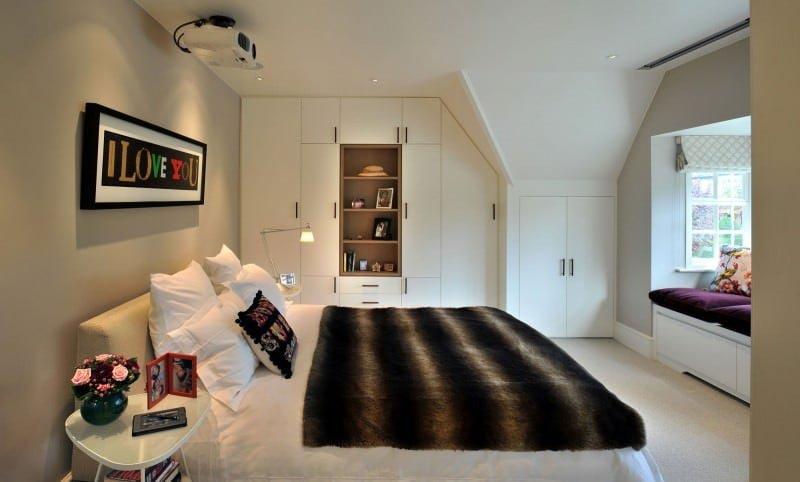 beyaz dekorasyonlu yatak odası dekorasyon