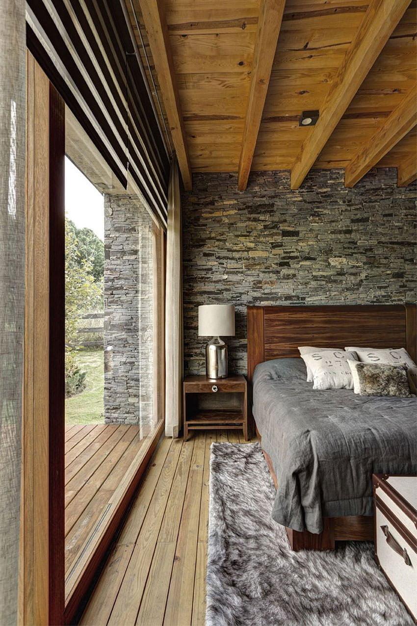 ahşap tasarımlı yatak odası modelleri