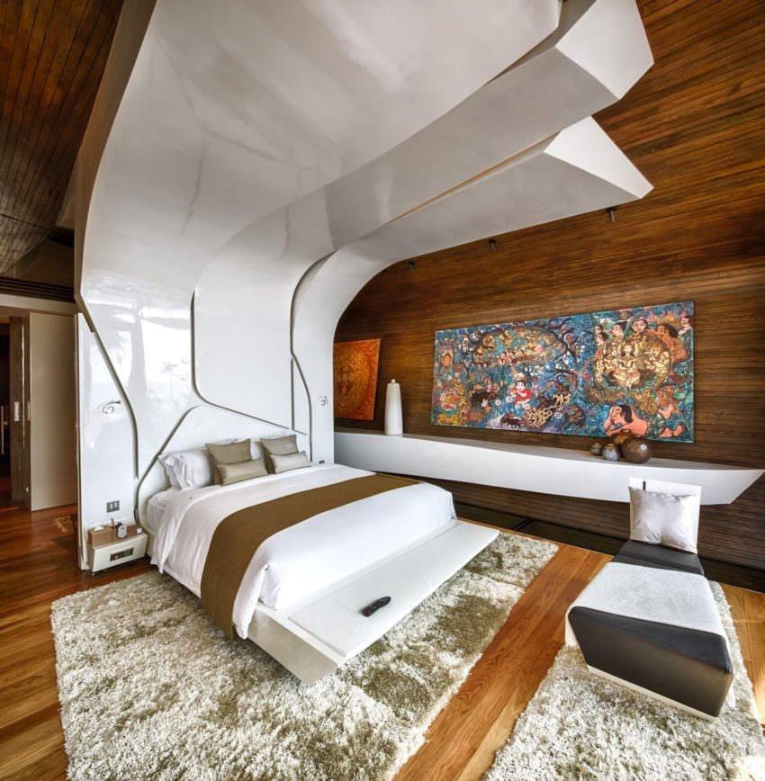 ilginç dekorasyonlu yatak odası