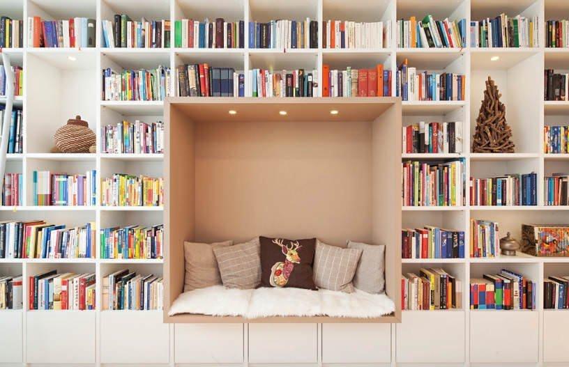 Evinize Kütüphane Oluşturmanız İçin Dolap Ve Raf Fikirleri 5