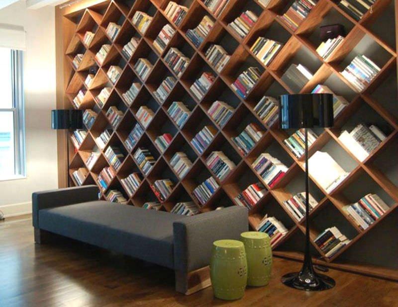 Evinize Kütüphane Oluşturmanız İçin Dolap Ve Raf Fikirleri 10