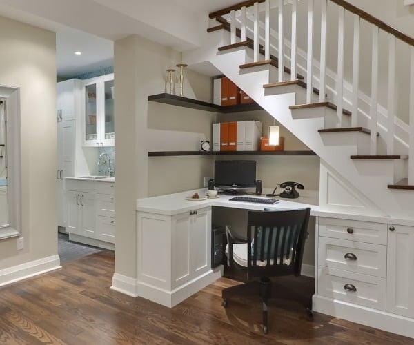 merdiven altı çekmece sistemi