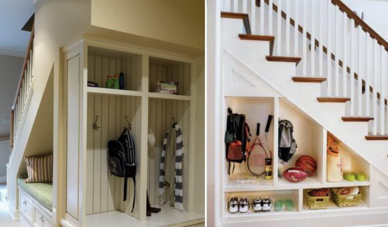 merdiven altı dolap sistemi