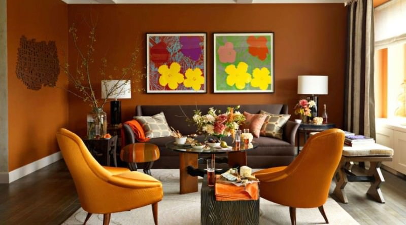 Turuncu Renk İle Ev Dekorasyon Fikirleri 10