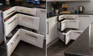 Mutfağınız İçin Köşe Dolap Tasarımları Ve Modelleri