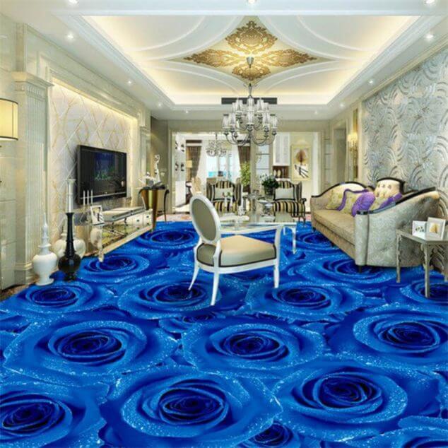 evinizin zeminlerine güzel 3d epoksi tasarımları