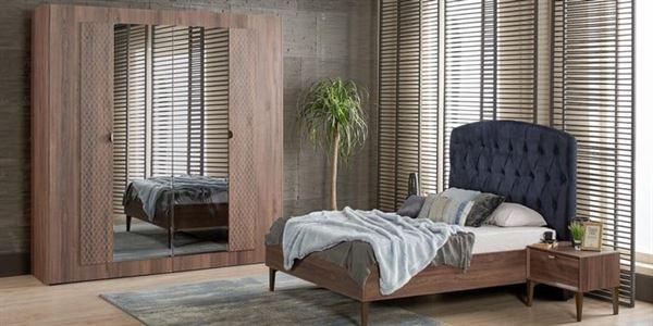 alfemo ceviz renk yatak odası