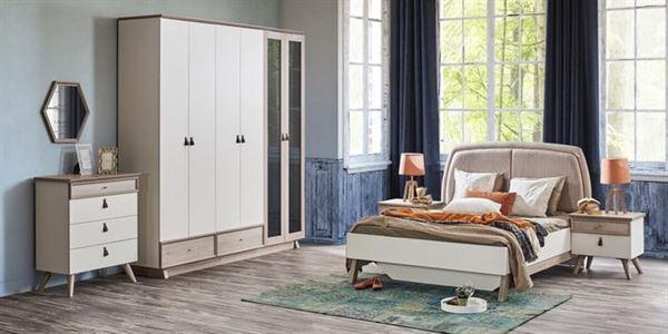 beyaz gardıroplu yatak odası
