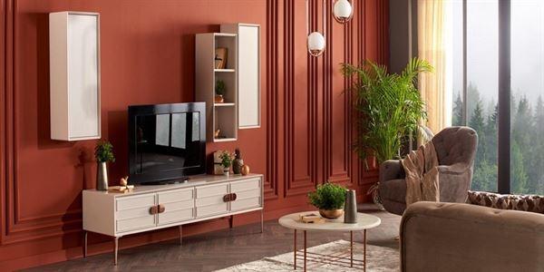 alfemo mobilya yeni tasarım tv Ünite modelleri - alfemo vegas tv unitesi - Alfemo Mobilya Yeni Tasarım Tv Ünite Modelleri