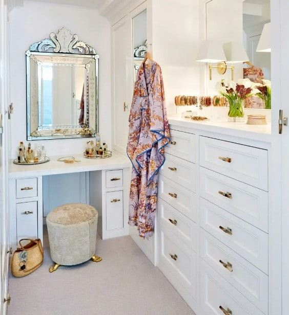 giyim odası çekmeceli gardırop modeli