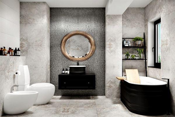 siyah modern dekorasyon