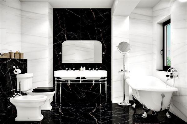 iki renkli banyo dekorasyon