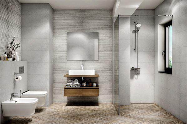 açık renkli banyo dekorasyon