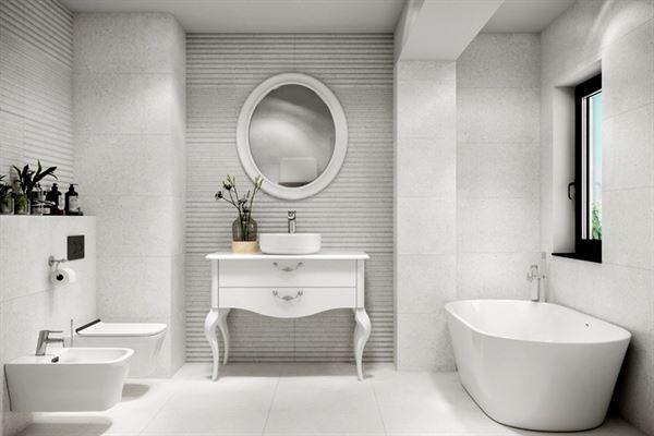 açık modern banyo dekorasyon