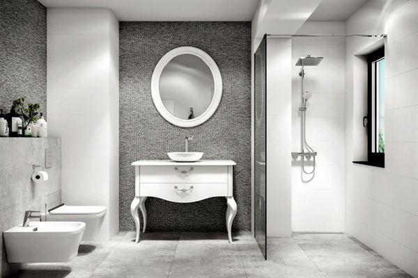 beyaz banyo dekorasyon