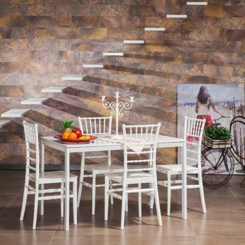beyaz yemek masa modelleri