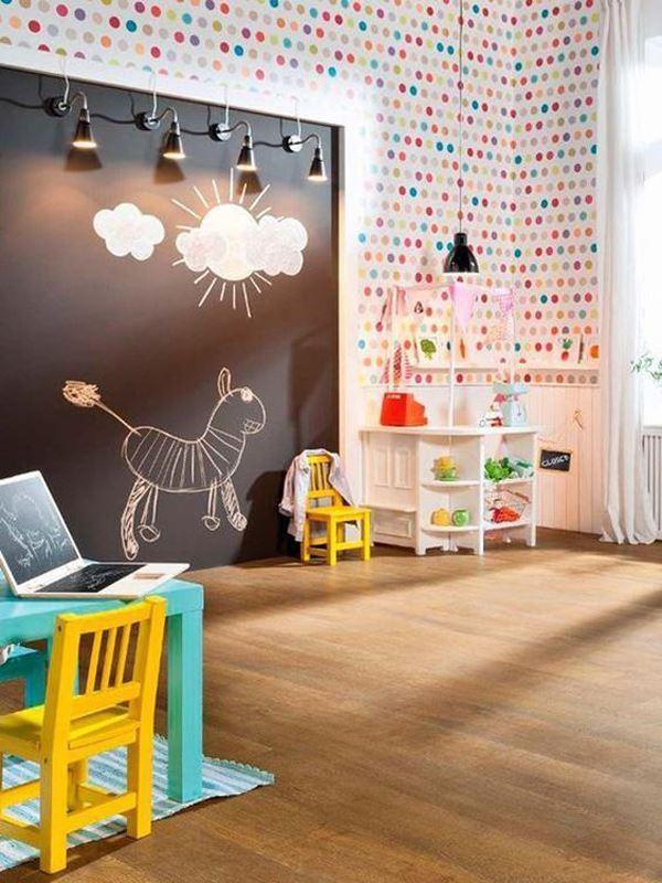 Yaratıcı Dekorasyonlu Çocuk Odaları 66