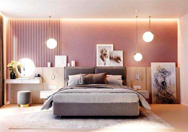 pembe yatak odası dekorasyon