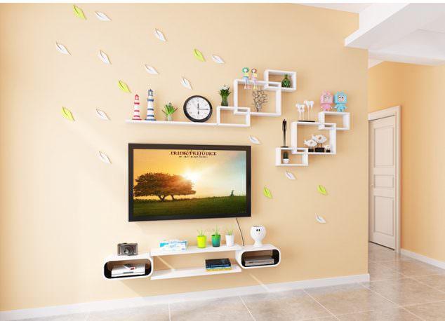 renkli duvar raf ve süsleme fikirleri