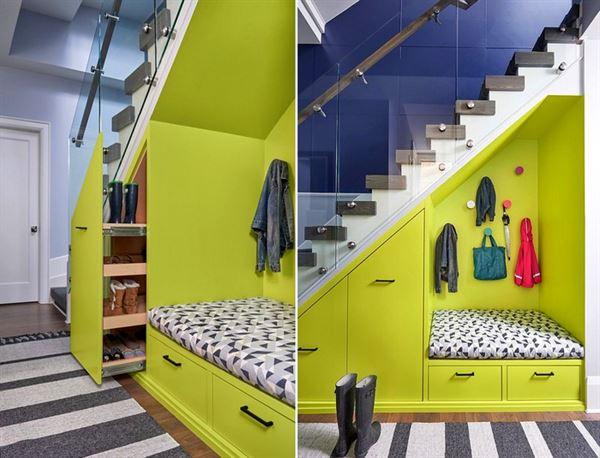 merdiven altı portmanto modeli