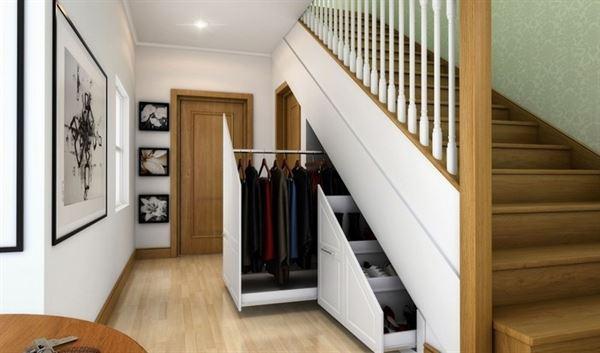 merdiven raylı büyük çekmece
