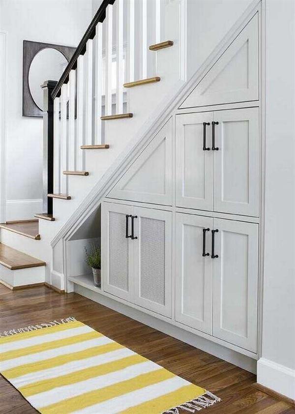 merdiven altı kapaklı dolap