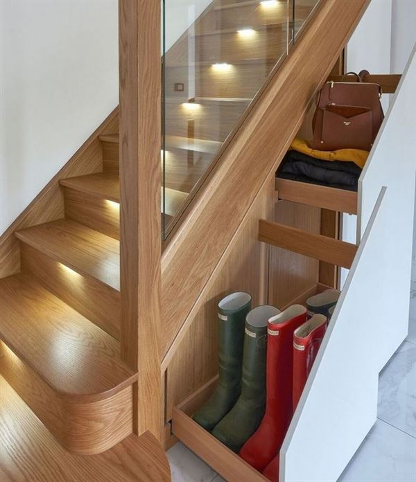 merdiven altı ayakkabı saklama çekmeceleri
