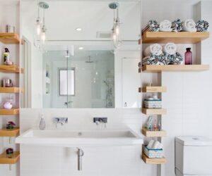 Banyo Duvar Raflarında Dekoratif Çözümler