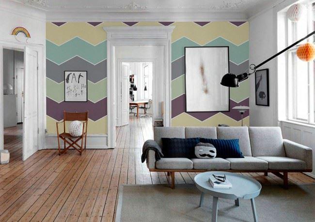 oturma odası duvar kağıt seçme fikirleri