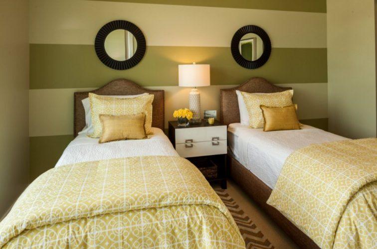 Sarı Renk Yatak Odası Dekorasyon